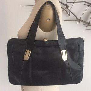 Vintage black shoulder bag